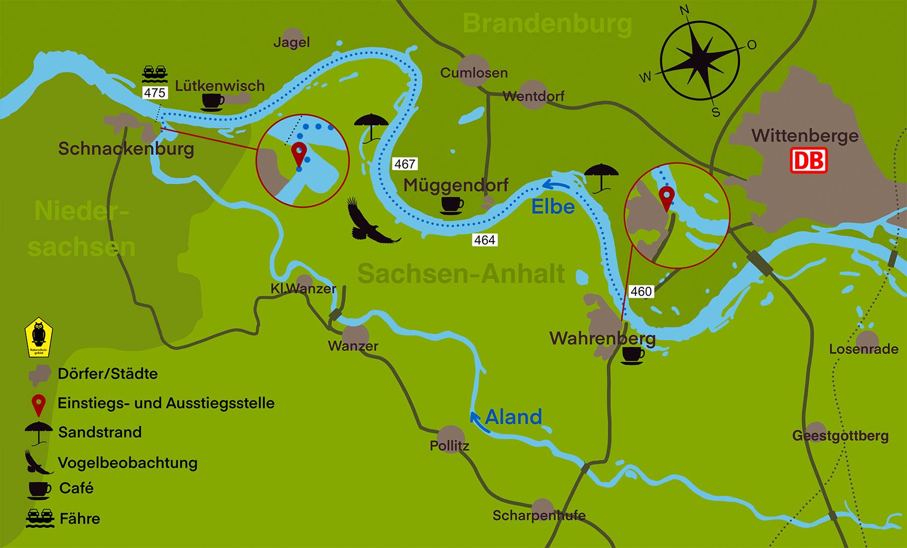 Kanustation Elbtalaue TOUR 1